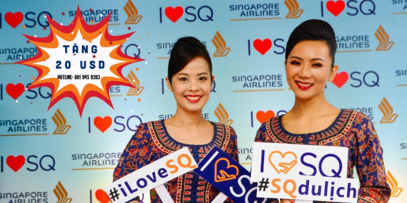 SINGAPORE AIRLINES TẶNG THÊM CHANGI VOUCHER 20 SGD