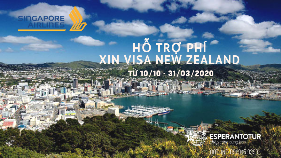 SINGAPORE AIRLINES HỖ TRỢ PHÍ VISA NEW ZEALAND