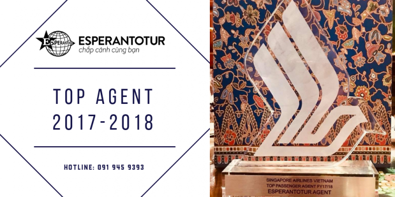 ESPERANTOTUR - SINGAPORE AIRLINES TOP AGENT 2017 - 2018