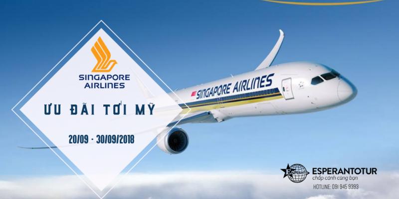 KHUYẾN MẠI ĐẶC BIỆT ĐẾN MỸ TỪ SINGAPORE AIRLINES