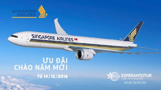 ƯU ĐÃI CHÀO NĂM MỚI 2019 TỪ SINGAPORE AIRLINES