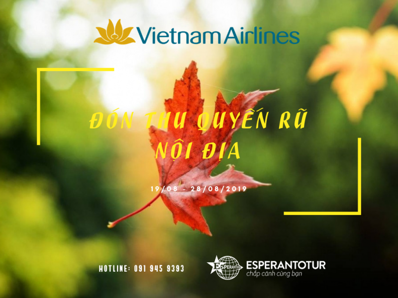 ĐÓN THU QUYẾN RŨ CÙNG VIETNAM AIRLINES - ĐƯỜNG BAY NỘI ĐỊA