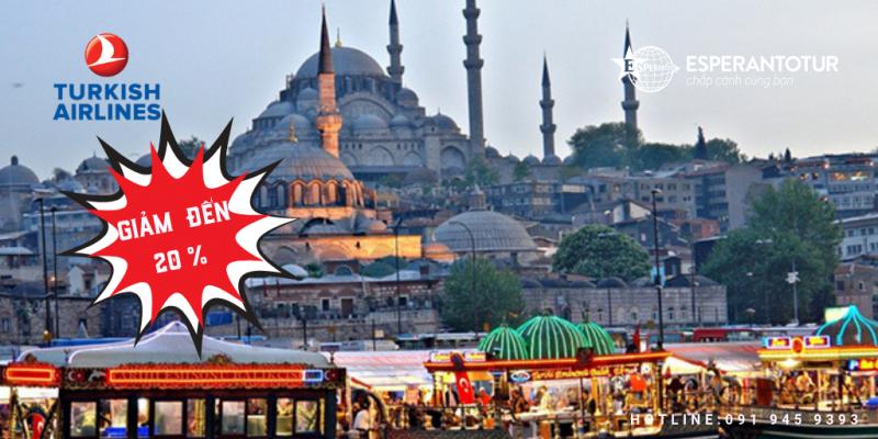 TURKISH AIRLINES GIẢM GIÁ ĐẾN 20 %