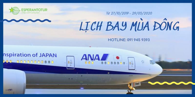 LỊCH BAY MÙA ĐÔNG CỦA ALL NIPPON AIRWAYS