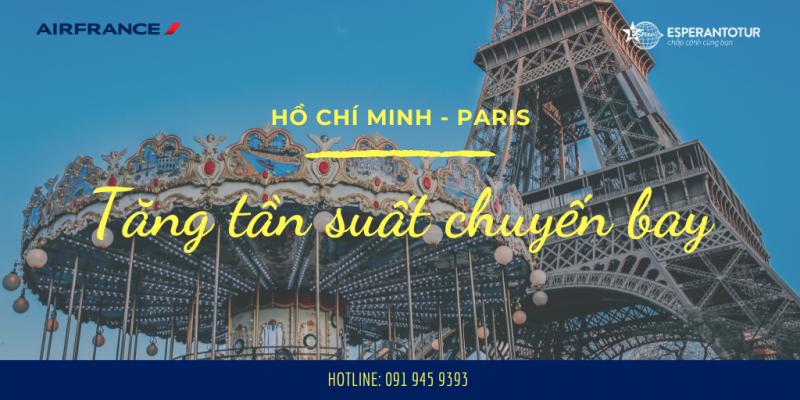 AIR FRANCE TĂNG TẦN SUẤT BAY TỚI PARIS TỪ THÁNG 11/2019 ĐẾN THÁNG 02/2020