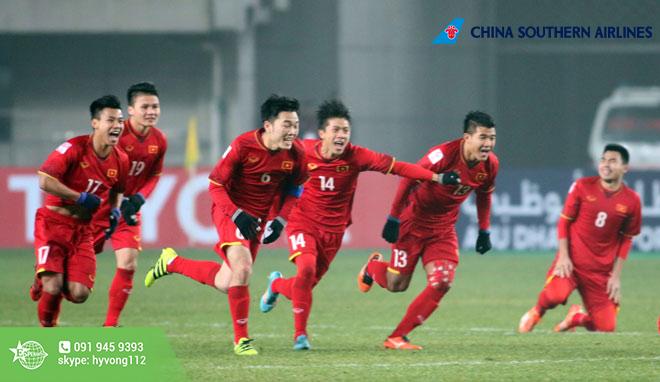 Chúc mừng đội tuyển U23, China Southern thông báo giá vé, visa và hành trình bay đến Trung Quốc!!