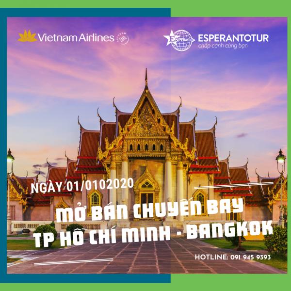VIETNAM AIRLINES MỞ BÁN CHUYẾN BAY TP. HỒ CHÍ MINH – BANGKOK NGÀY 01/10/2020