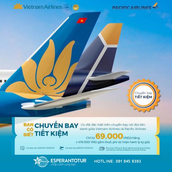 VIETNAM AIRLINES TRIỂN KHAI GIÁ ƯU ĐÃI ĐẶC BIỆT TRÊN CHUYẾN BAY LIÊN DANH GIỮA VIETNAM AIRLINES VÀ PACIFIC AIRLINES