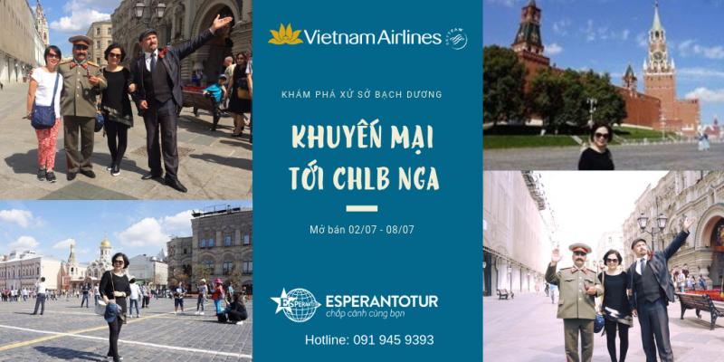 VIETNAM AIRLINES MỞ BÁN KHUYẾN MẠI ĐẾN MOSCOW