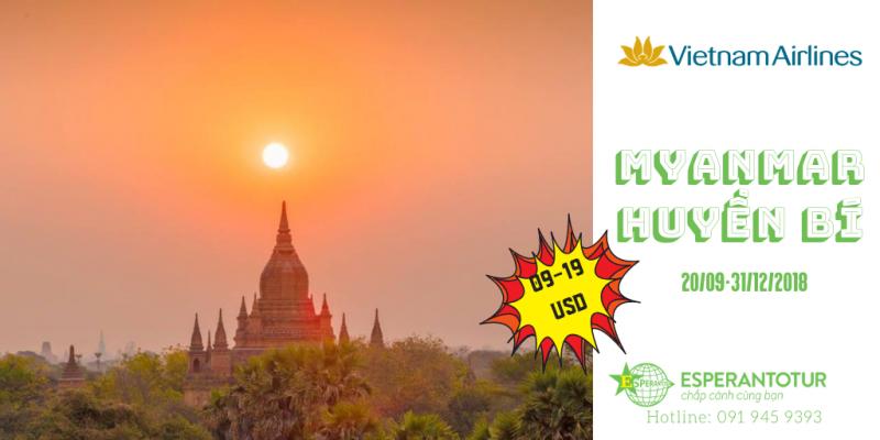 CHỈ TỪ 09 USD TỚI MYANMAR! RẺ QUÁ! KHÔNG BAY LẠI TIẾC!