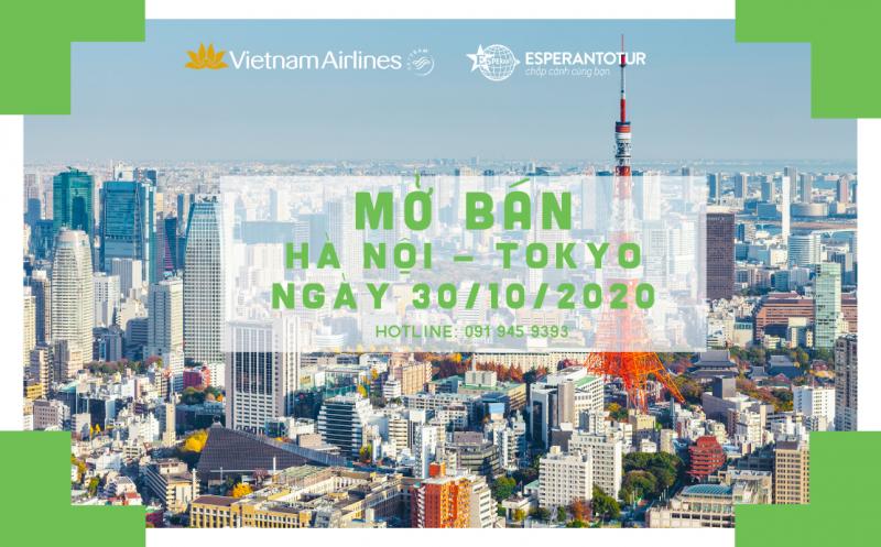 VIETNAM AIRLINES MỞ BÁN CHUYẾN BAY HÀ NỘI - NARITA NGÀY 30/10/2020