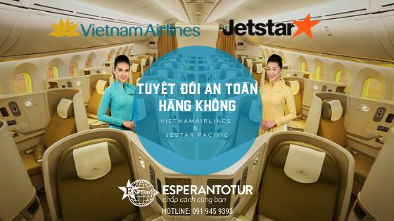 Vietnam Airlines và Jetstar Pacific Airlines được xếp hạng tuyệt đối 7 sao về an toàn hàng không