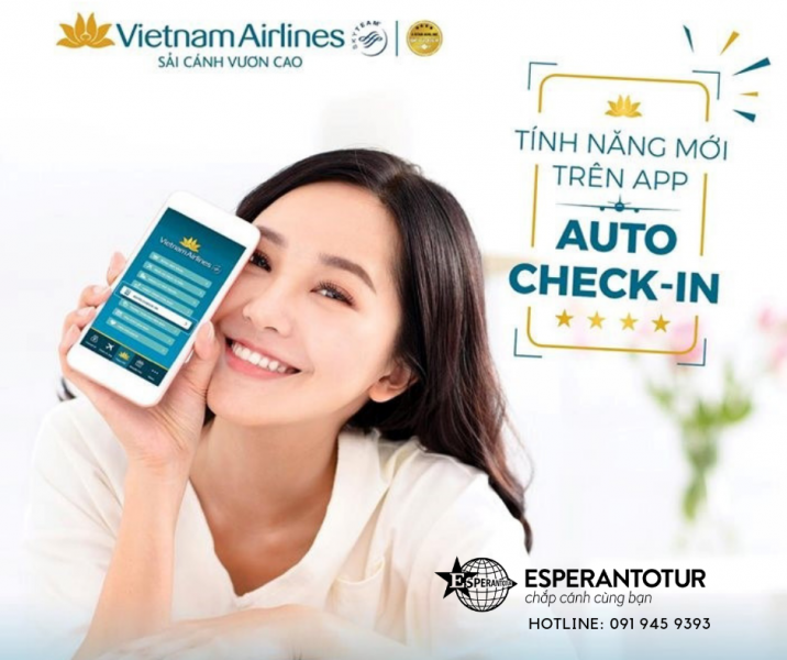 """""""TỰ ĐỘNG CHECK-IN"""" TRƯỚC GIỜ BAY VỚI ỨNG DỤNG VIETNAM AIRLINES"""