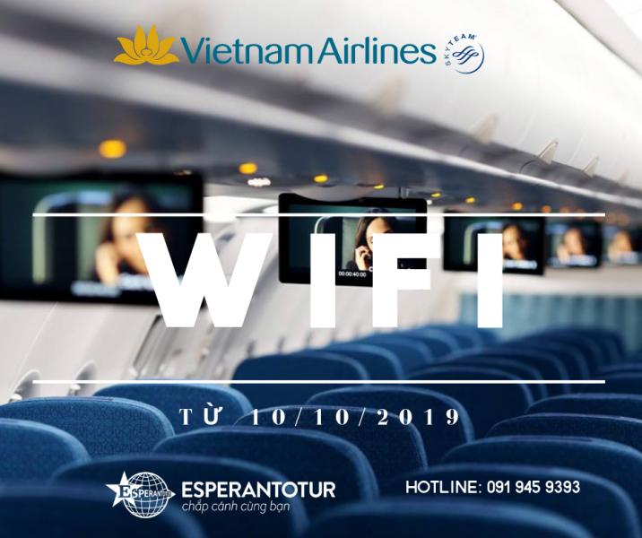 VIETNAM AIRLINES - HÃNG HÀNG KHÔNG ĐẦU TIÊN Ở VIỆT NAM CÓ WIFI KẾT NỐI INTERNET QUA VỆ TINH