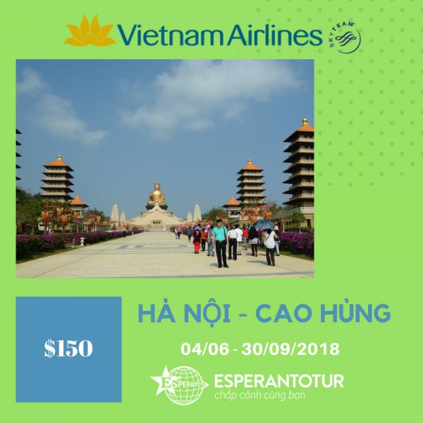TỚI CAO HÙNG CHIÊM NGƯỠNG PHẬT QUANG SƠN CÙNG VIETNAM AIRLINES