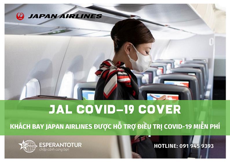 KHÁCH BAY JAPAN AIRLINES ĐƯỢC HỖ TRỢ ĐIỀU TRỊ COVID-19 MIỄN PHÍ