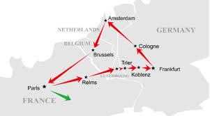 TUYẾN ĐỎ (RED LINE) : PHÁP • LUXEMBOURG • ĐỨC • HÀ LAN • BỈ