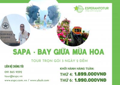 SAPA - BAY GIỮA MÙA HOA